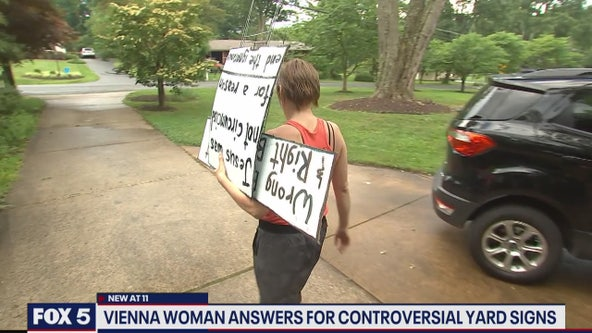 Vienna woman answers for controversial yard signs