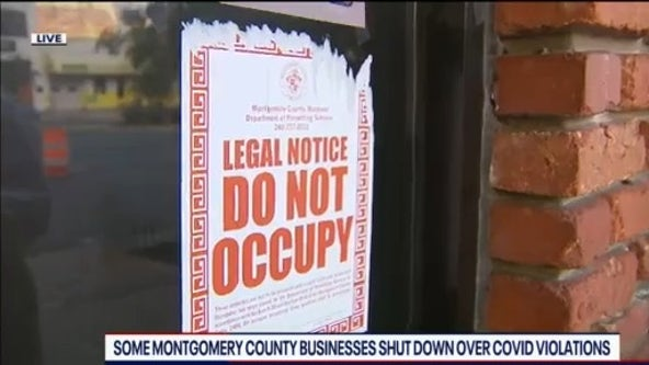 Several Montgomery County businesses shut down over COVID-19 violations