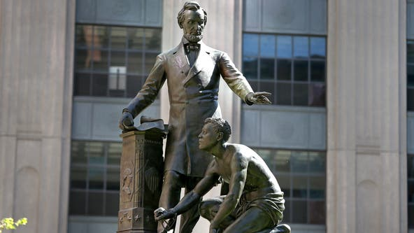 Boston to remove statue of slave kneeling before Abraham Lincoln