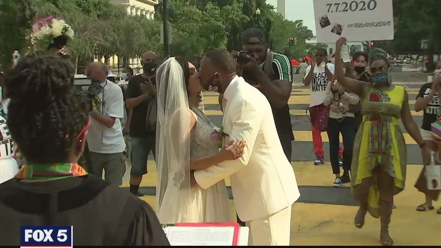 DC couple says 'I do' on Black Lives Matter Plaza