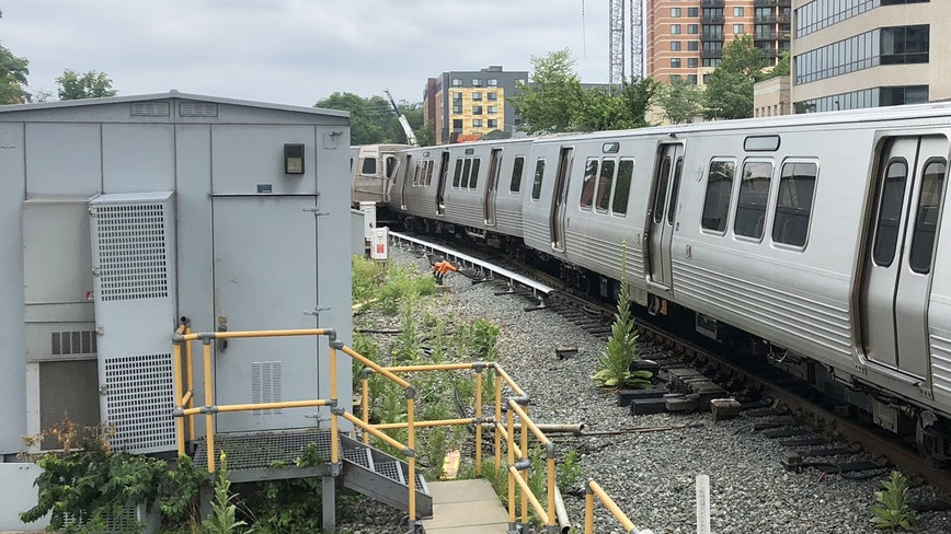 Metro train derails outside Silver Spring station, authorities say