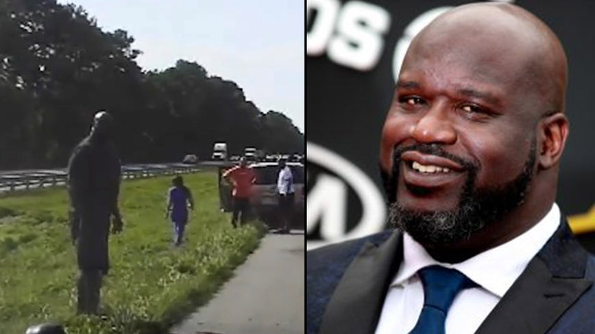Shaq stops to help driver after crash on Florida highway