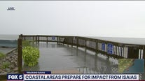 Coastal areas prepare for impact from Isaias