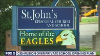 Confusion over private school reopening plan in Montgomery County