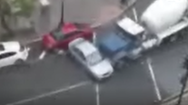 WATCH: Cement truck rams car through Northwest DC