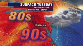 Summer heat continues Tuesday; isolated afternoon storms possible