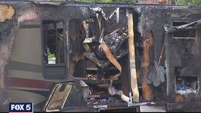 Criminal investigation underway after man's COVID-19 mobile testing lab stolen, wrecked and caught on fire