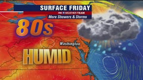 Showers and storms continue Friday; weekend thunderstorms likely