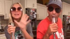 Daughter pranks dad in hilarious TikTok lip-syncing duet