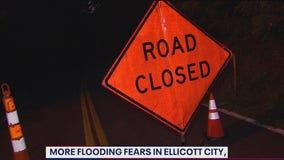 Flooding concerns in Ellicott City after heavy rain triggers activation of emergency flood warning system