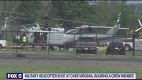 FBI investigating after shots reportedly fired at Air Force helicopter over Northern Virginia