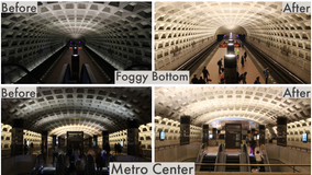 Pictures shed light on a world of difference at Metro stations