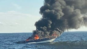 Coast Guard, fishing vessel rescue 6 from Ocean City boat fire