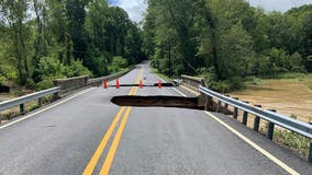 Southern Maryland bridge shut down after floodwaters devour large sections