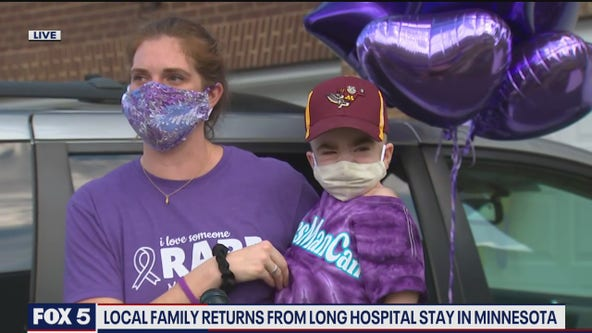 Manassas toddler returns home after receiving treatment for life-threatening disease in Minnesota