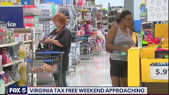 Virginia's sales tax holiday weekend to start Friday