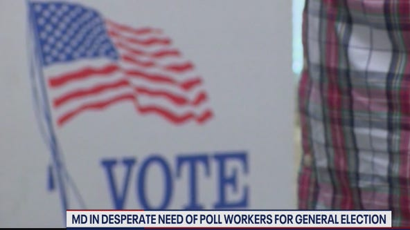 Maryland struggling with shortage of poll workers ahead of November election