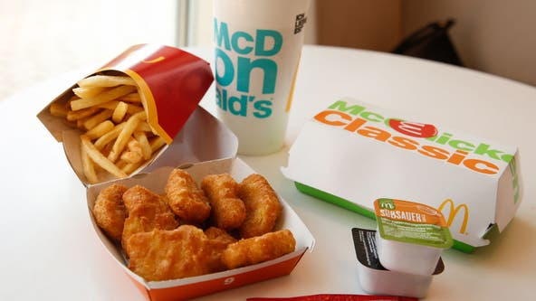 Woman claims to find face mask 'cooked' into McDonald's nugget