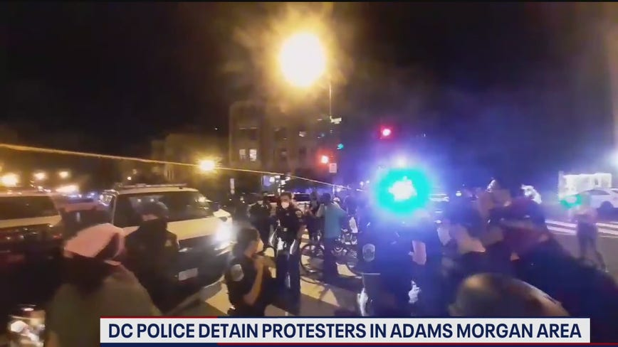 Arrest made after protests in DC's Adams Morgan neighborhood