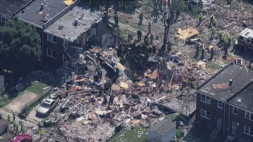 Utility company says their equipment not to blame for Baltimore explosion that left two dead