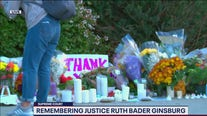 Makeshift memorial for Ruth Bader Ginsburg grows outside Supreme Court Building