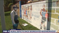 Mural depicts once segregated neighborhood