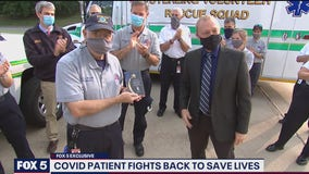Virginia paramedic who nearly died battling COVID-19 back on the job
