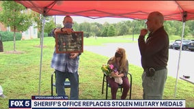 Sheriff's office replaces stolen military medals