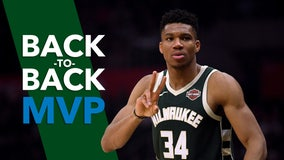 Giannis Antetokounmpo wins 2nd straight NBA MVP award
