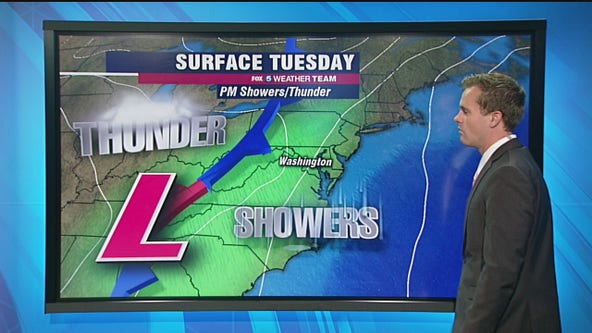 Afternoon rain and thunderstorms expected Tuesday