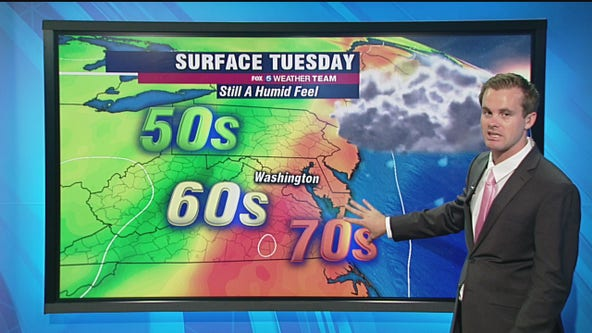 FOX 5 Weather forecast for Tuesday, September 29