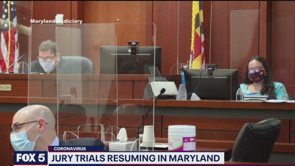 Jury trials to resume next week in Maryland