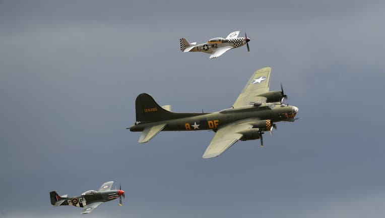 B-17 Flying Fortress and P-40 Warhawk