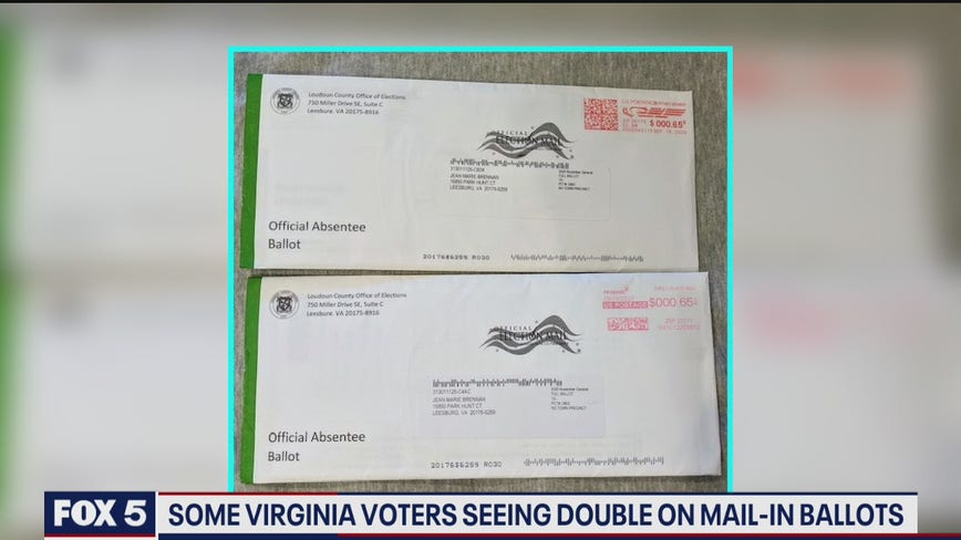 Reports: Nearly 1400 Virginia voters got two ballots in the mail