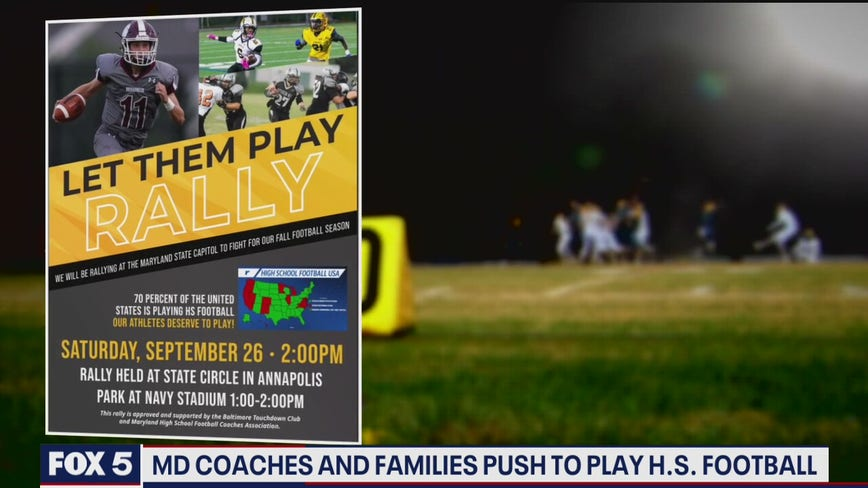Maryland coaches, families will push to play high school football at Annapolis rally