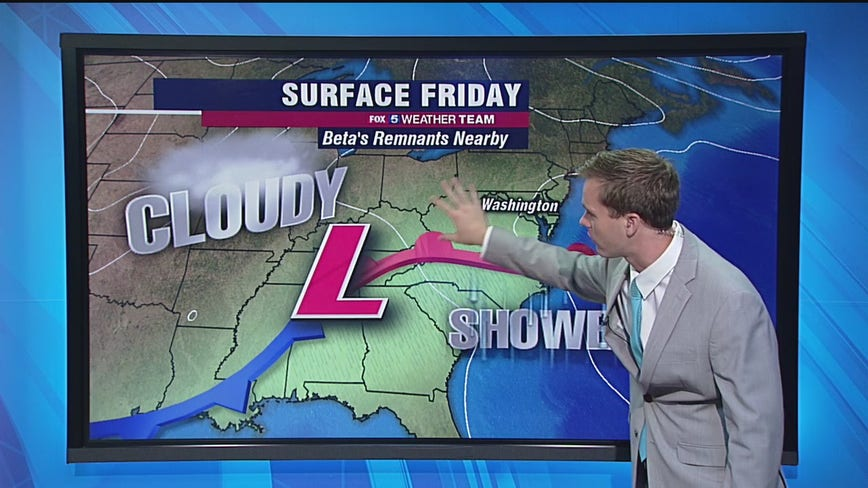 Clouds, showers Friday with highs in the 70s