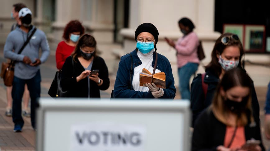 Virginia voting opens with long lines