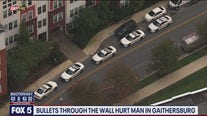 Bullets through wall hurt man in Gaithersburg