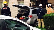 Car crashes into Bladensburg apartment building forcing dozens from their homes