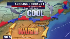 FOX 5 Weather afternoon forecast for Thursday, October 22