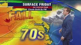 Mild, dry and cloudy Friday; Hurricane Delta remnants bring Sunday showers
