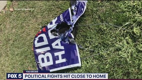Campaign signs targeted by vandals ahead of presidential election