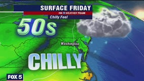 Cloudy, rain showers Friday with chilly temperatures in the 50s