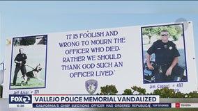 'Cowardly:' Vallejo police union upset vandals smashed billboard honoring officers