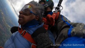 Howard County 102-year-old celebrates birthday by skydiving