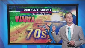 Sunshine continues Thursday with warm temperatures in the mid-70s