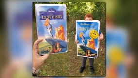 7-year-old celebrates Halloween with 'Lion King' VHS costume