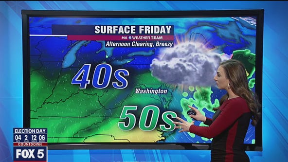 Cool and breezy Friday with highs in the 50s; chilly Halloween ahead