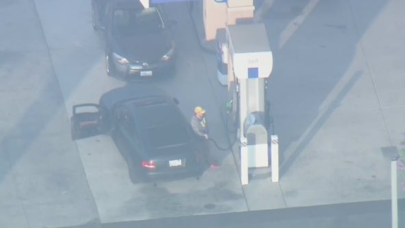 Suspect stops to fill up gas tank during pursuit through San Gabriel Valley