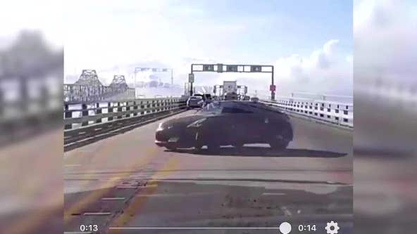 Driver charged after Bay Bridge 'burnouts' caught on video, authorities say